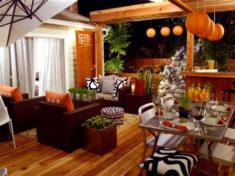 Backyard Living Room Ideas by Orange Home Decor And Decorating With Orange Hgtv