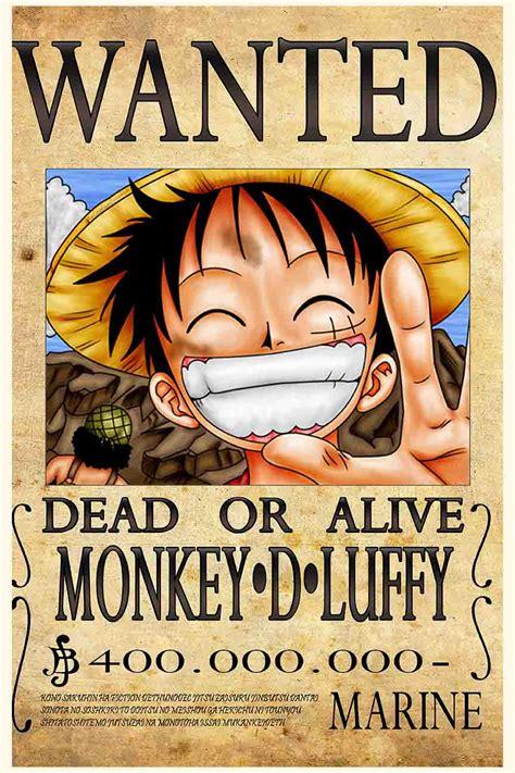 luffy bounty poster groovy bucket