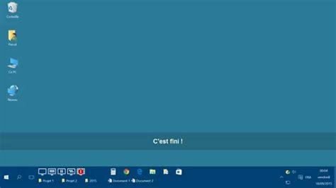 afficher le bureau afficher les icônes du bureau avec windows 10