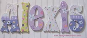 girls hand painted wooden letters girls nursery letters page 2 With girls wooden letters