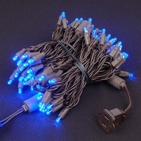 led christmas lights on brown wire novelty lights inc
