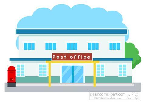 bureau top office architecture clipart post office building clipart 052