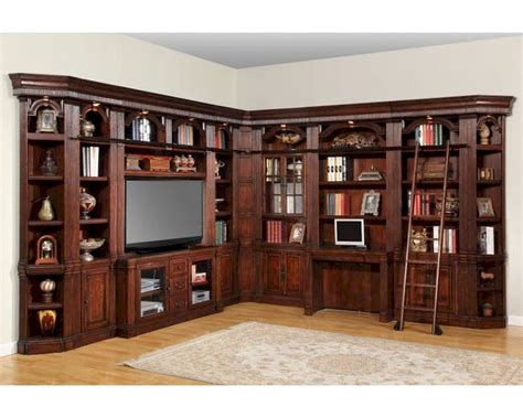 Bookcase Desk Wall Unit Home Office Furniture Set Eyyc17
