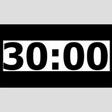 30 Minute Countdown Timer With Alarm Youtube