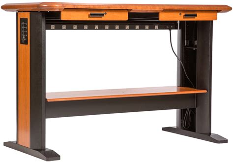 computer desk cable standing computer desk full caretta workspace
