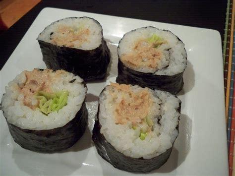 cooked tuna sushi cooked tuna hand roll myrecipestash