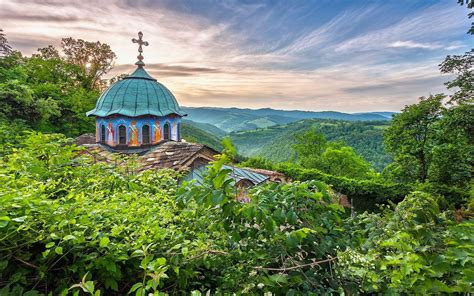 sokolski monastery bulgaria church forest hd wallpaper