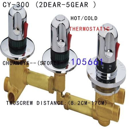 3 Outlet Shower Valve - shower room thermostatic faucet 2 3 4 5ways water outlet