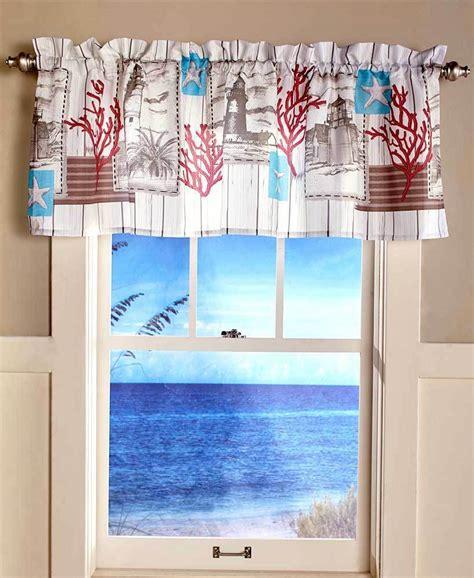 nautical lighthouse seashore window valance sealife