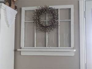Repurposed Old Window to Shelf Decoration Hometalk