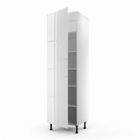 colonne cuisine 50 cm largeur meuble de cuisine colonne blanc 1 porte h 200 x l 60 x p 56 cm leroy merlin