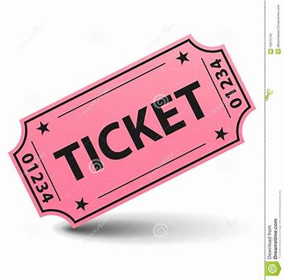 Ticket Pink Yellow Background Coupon Vector Royalty