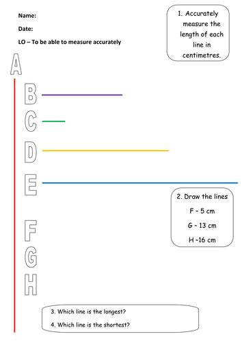 measuring and drawing length by emmaj18 teaching resources