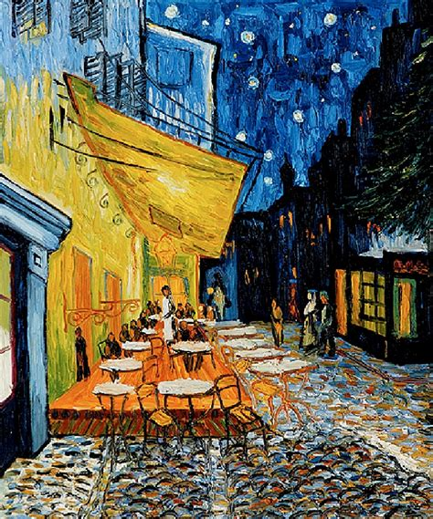 gogh cafe terrace at 77 see a vincent gogh painting this list