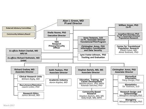 leadership organizational chart dartmouth synergy