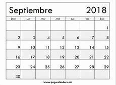 Septiembre Calendario 2018 Imprimir Spanish Calendar