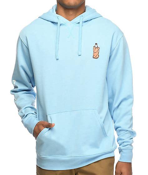 light blue hoodie dgk 40 oz custom light blue hoodie zumiez