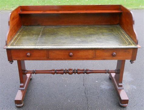 antique leather top desk antique mahogany leather top writing desk 376470
