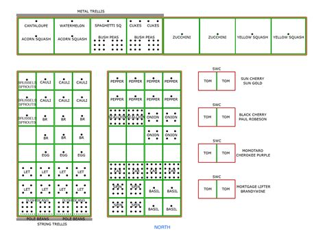 4x8 Raised Bed Vegetable Garden Layout by Square Foot Vegetable Garden Layout