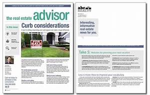 real estate advisor newsletter template volume 4 issue 6 With realtor newsletter templates