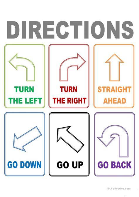 flash cards directions worksheet  esl printable