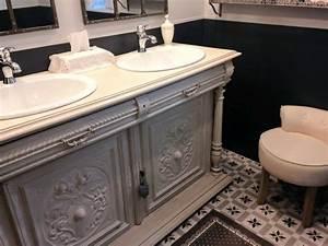 Meuble Vasque Retro : meuble salle de bain vintage salle de bain retro meuble salle de bain ikea freden salle de ~ Teatrodelosmanantiales.com Idées de Décoration