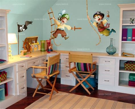 deco chambre pirate stickers pirate capitaine sam