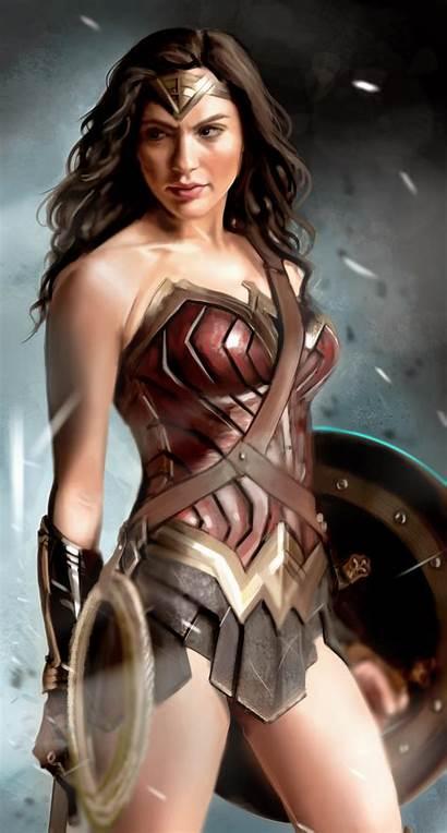 Gadot Gal Wonder Woman Deviantart Paint Fantasy