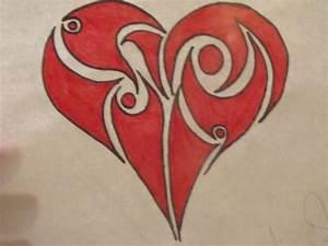 Tribal Heart Drawing - MinnieMouse96 © 2018 - May 24, 2013