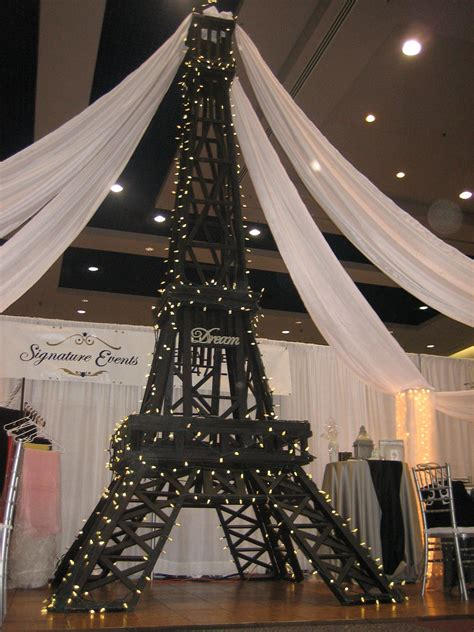 Tower Decorations by Eiffel Tower Decorations Signature Events Rental