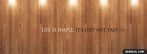Life Facebook C... Simple Coverwith Quotes
