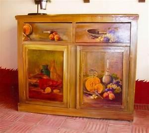meubles peints urbantrottcom With peinture decorative meuble bois