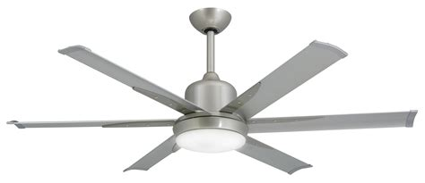 troposair dc 6 brushed nickel industrial ceiling fan with