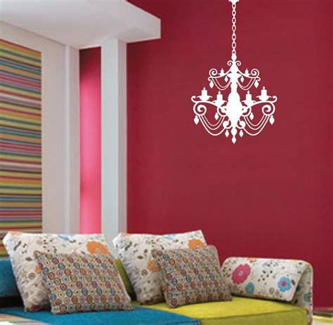 chandelier wall decal with chain 1155