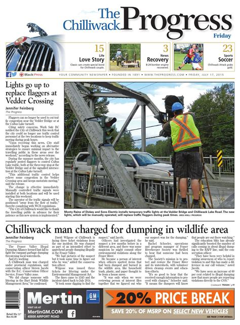 Chilliwack Progress July 17 2015 by Black Press Media