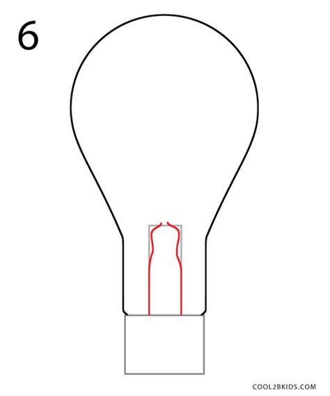 How To Draw A Light Bulb by How To Draw A Lightbulb Step By Step Pictures Cool2bkids