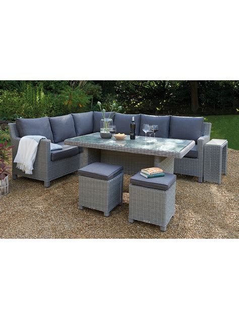 kettler lounge set kettler palma 8 seat corner garden glass table chairs lounge set with side table at lewis