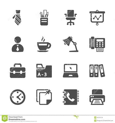 travail de bureau ensemble d 39 icône de travail de bureau vecteur eps10 photo