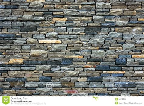 Grey Brick Wall As Background. Royalty Free Stock Photo