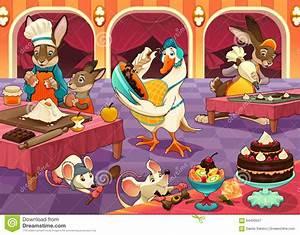Kleine Tiere Im Mehl : lustige tiere kochen kuchen und pl tzchen vektor abbildung ~ Lizthompson.info Haus und Dekorationen