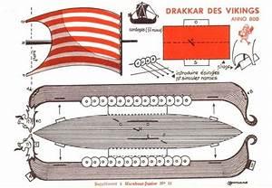 free printable viking ship vintage papercraft fun free With viking longship template