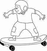Skateboarding Clip Skateboard Clipart Coloring Kid Skate Pages Cliparts Drawing Drawings Skateboards Disney Line Galore Khumba Results Outlines Library Clipartix sketch template