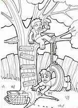 Swing Tire Zombie Babies Tree Drawing Pages Coloring Deviantart Template Swings Sketch Sheets Getdrawings sketch template