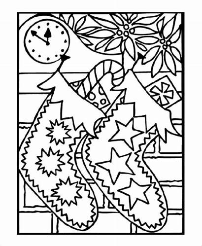 Coloring Christmas Stocking Pages Colouring Pdf Template