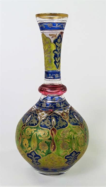 Antique Coloured Glass Vases by Fabulous Antique Moser Multi Colored Vase