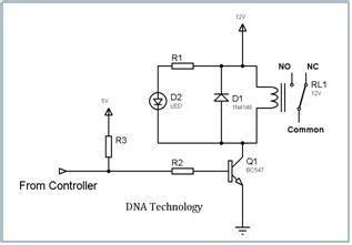 Electromechanical Relays Interfacing Circuits With