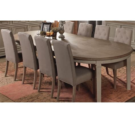 canapé cuir mobilier de table ronde extensible quot charme quot 4664