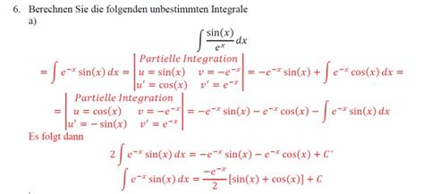 partielle integration unbestimmtes integral mathelounge