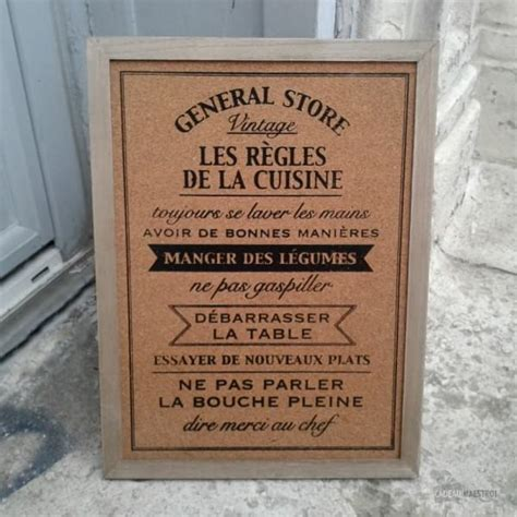memo pour cuisine tableau mémo les règles de la cuisine cadeau maestro
