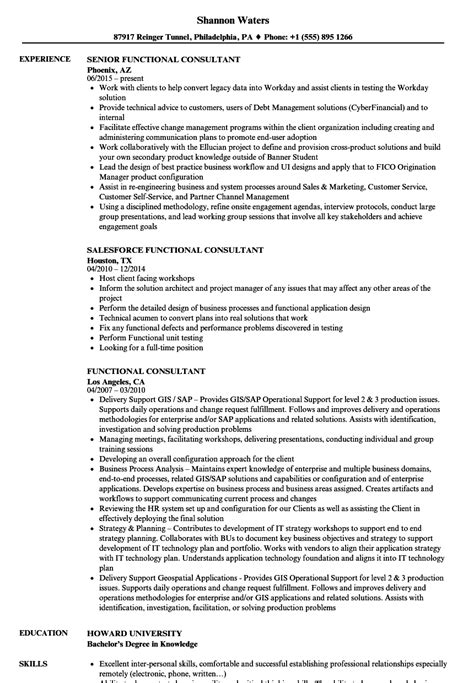 Implementation Consultant Resume by Workday Consultant Resume Vvengelbert Nl